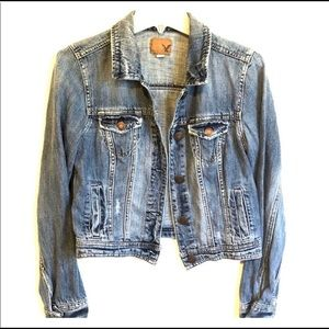 AMERICAN EAGLE Distressed Blue Denim JACKET COAT M